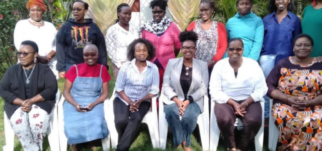 Female journalists who attended the KICTANet training