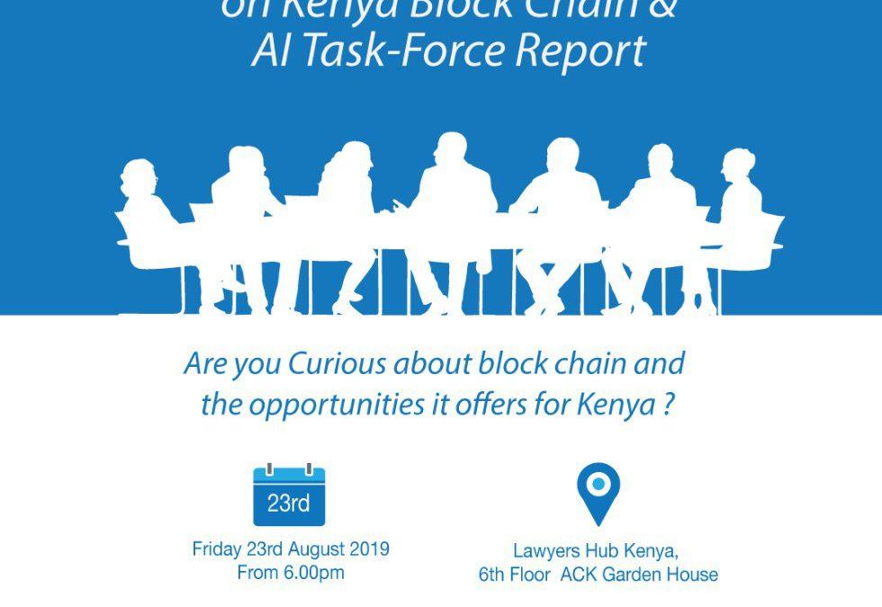 Block-Chain & AI Task Force Report – August LawTech Meetup