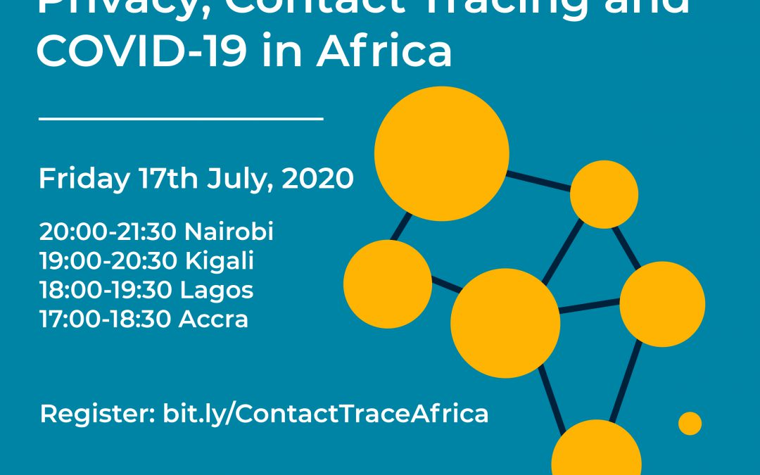 Privacy and Contact Tracing in Africa: Friday Evening LawTech MeetUp (Virtual)