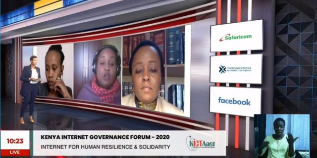 Human Resilience and solidarity panel at Kenya IGF