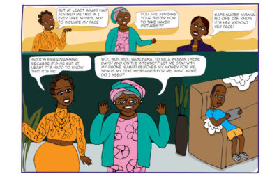 A safer web for women comic strip
