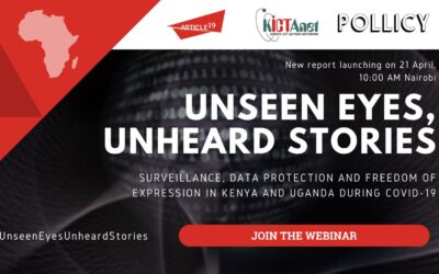 Unseen Eyes, Unheard Stories: Surveillance, Data Protection and Freedom of Expression in Kenya and Uganda During COVID-19